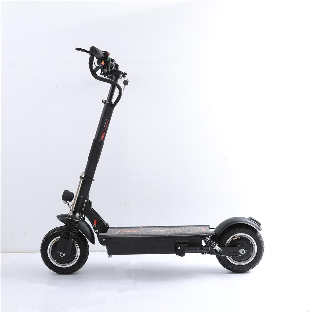 UBGO 1005 + Vide Pneu Moteur 60 v/52 v Double Lecteur 2000 w moteur puissant électrique scooter 10 pouces E-Scooter avec Huile De Frein