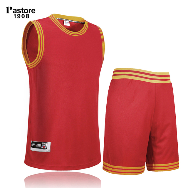 b98d2818fce pastore1908 mens basketball jersey suit quick dry breathable running sports  jersey shorts Personalise custom jersey pattern308AB