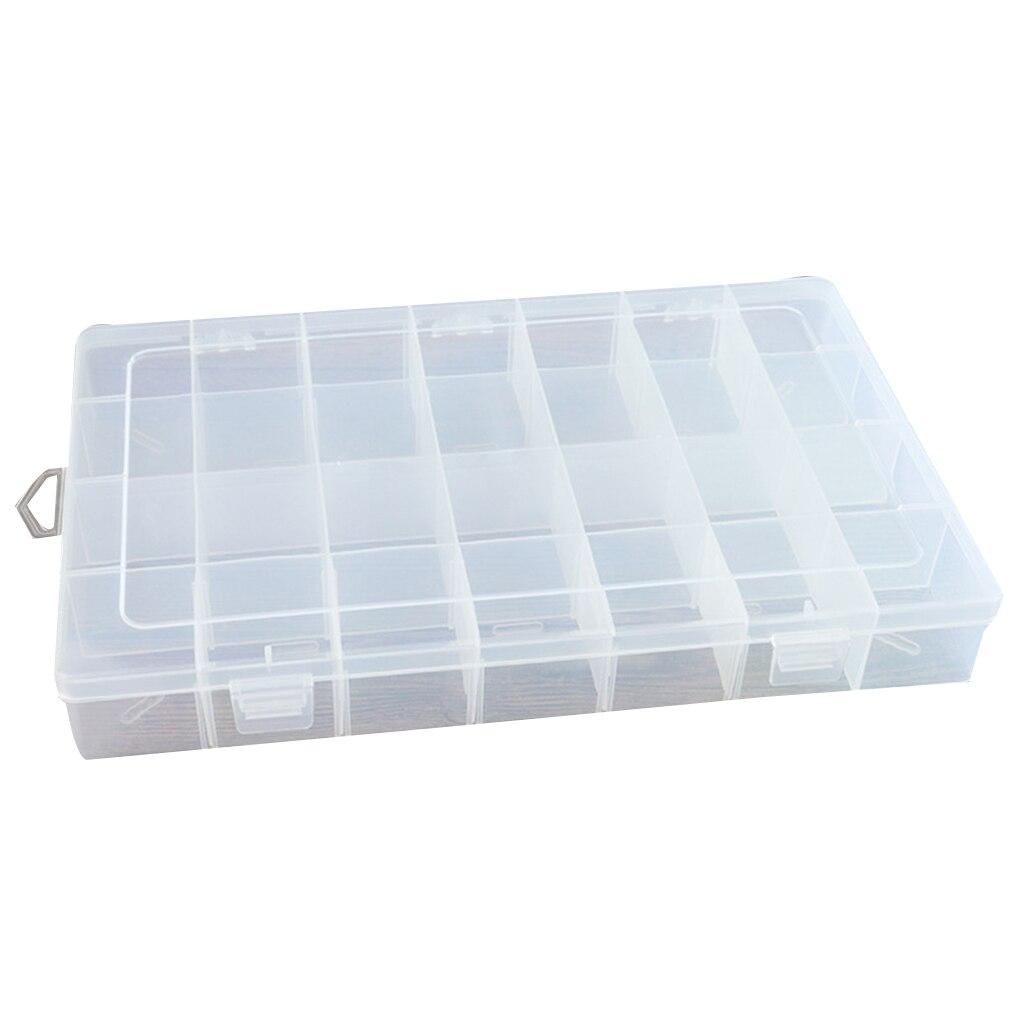 Case-Accessories Container Storage-Box Hair-Tie Jewelry Plastic Transparent 28-Slots