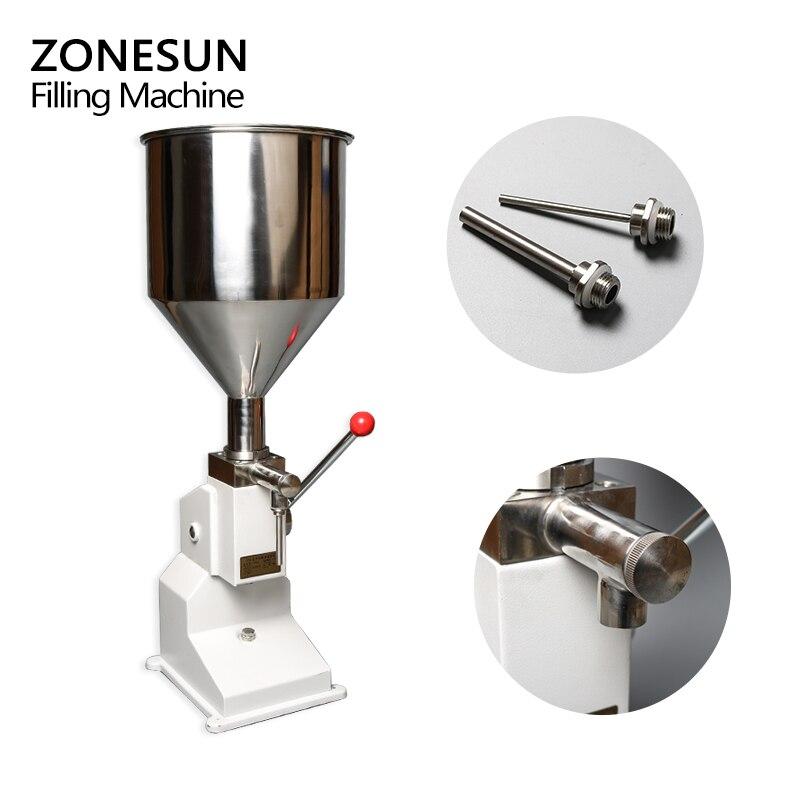 Máquina Manual de llenado de alimentos ZONESUN, máquina de presión de la mano, crema de Arequipe, equipo de envasado de Pasta Líquida de miel, relleno de zumo de champú - 2