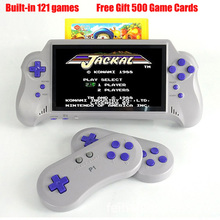 7 inch Handheld Game Player FC NES 8bit Wireless handle Gift game cards include 500 games Support HDMI TV-OUT Video Console