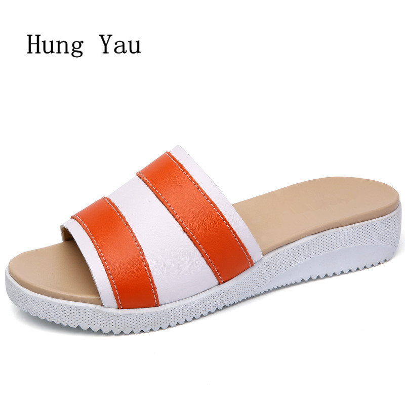 Women Sandals 2018 Summer Shoes Woman Flip Flops Wedges Fashion Platform Female Slides Ladies Shoes Peep Toe fashion gladiator sandals flip flops fisherman shoes woman platform wedges summer women shoes casual sandals ankle strap 910741