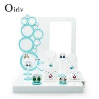 Oirlv ekspresowe nowy produkt luksusowy akrylowe wyświetlacz zestaw do licznika shocase pierścień kolczyki naszyjnik uchwyt stojak z plakatu