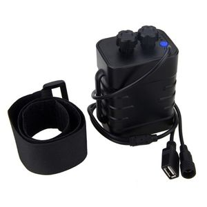 Image 2 - Waterproof Plastic 6x 18650 Battery Pack Case Holder Cover DC/USB Output For Bike Bicycle light Lamp And Mobile Phone