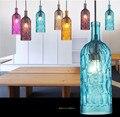 Novelty Glass Bottle Lamp Creative Colorful Bar Wine Bottle Lamp Energy Saving Dinning Room Wine Bottle Light