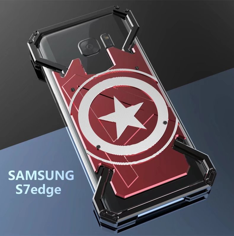 R Just Case For Samsung Galaxy S7 Edge Captain America Armor Heavy