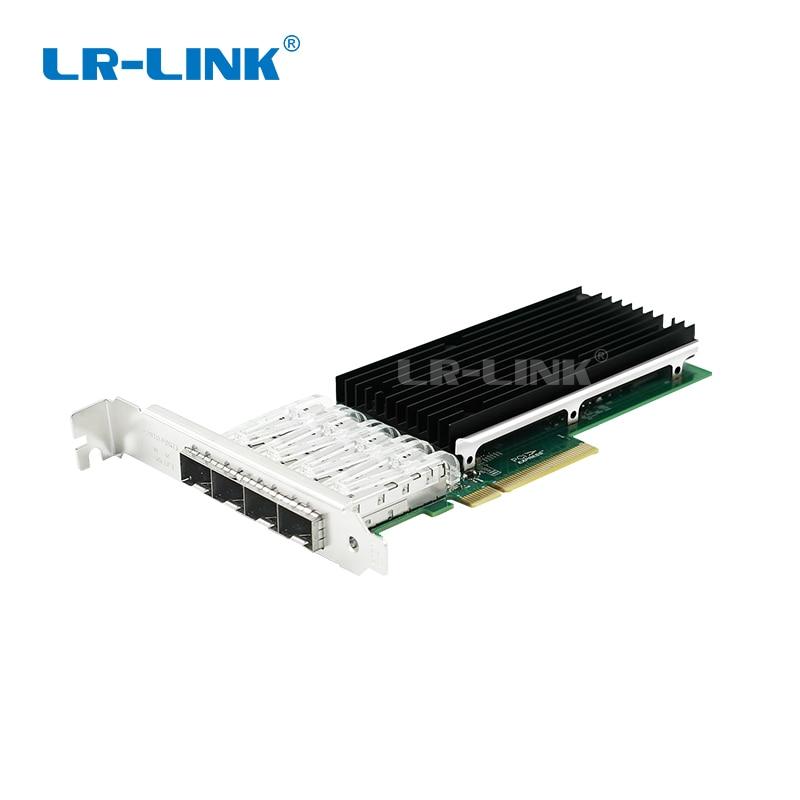 LR-LINK 9814AF-4SFP + 10 Gb Ethernet Adattatore di Rete Quad-Port PCI-Express In Fibra Ottica Scheda di Rete Lan Broadcom BCM57840 Nic