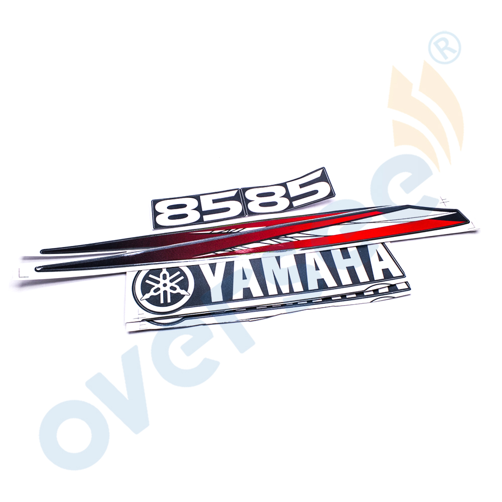 Yamaha 225 HP Outboard Engine Decal Kit Four Stroke Cowling Motor