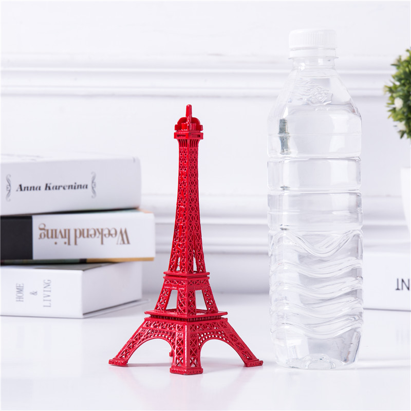 Cake Topper Eiffel Tower Decor Five Sizes Pure Red Color Tower Non Ferrous Metal Home Decoration Improvement Gift in Figurines Miniatures from Home Garden