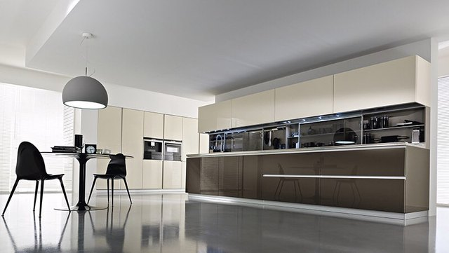 Push to open hinge kitchen cabinet high gloss-in Kitchen Cabinets ...