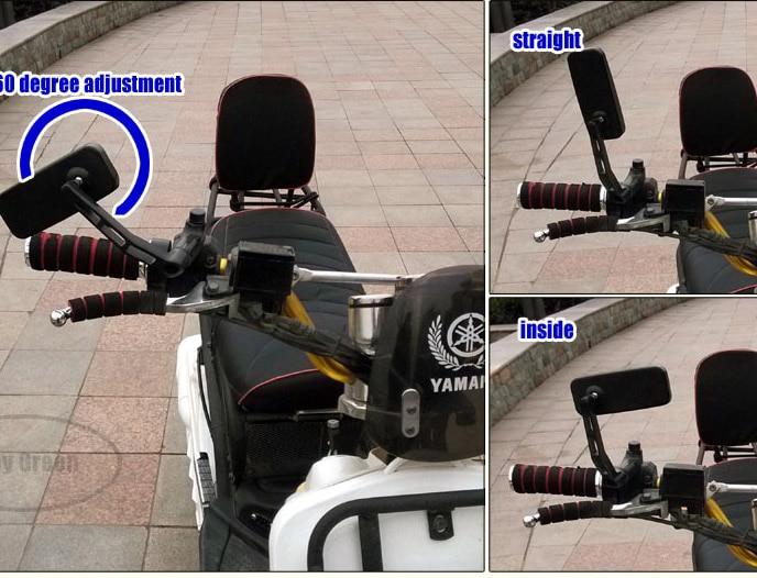 Gratis verzending, scooter motorfiets achteruitkijkspiegels aluminium - Motoraccessoires en onderdelen - Foto 5