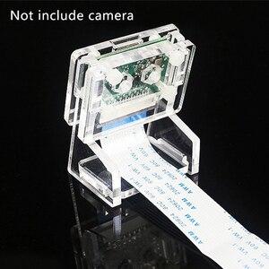 Image 2 - Estojo acrílico transparente para câmera, proteção de revestimento e suporte para câmera 2 em 1 raspberry pi 3b só caso