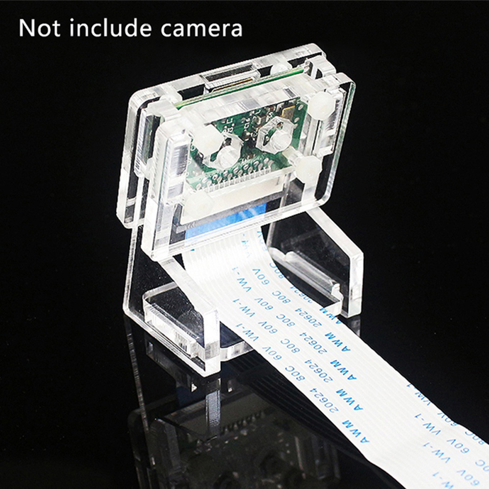 Image 2 - Raspberry Pi 3b+ Camera Case/Camera Module Bracket,Protective Shell and Bracket 2in1 Acrylic Transparent Shell-in Demo Board from Computer & Office