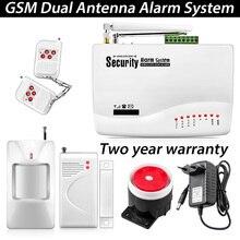 Беспроводной GSM охранная сигнализация с двойной антенной для дома/Датчик двери, инструкция, русская озвучка