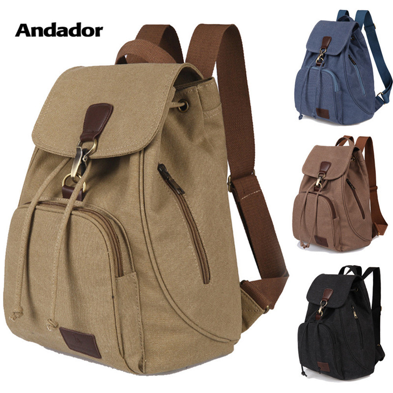 Canvas Backpacks Outdoor Travel-Bags Female Vintage Women's New-Fashion Soft Big-Capacity