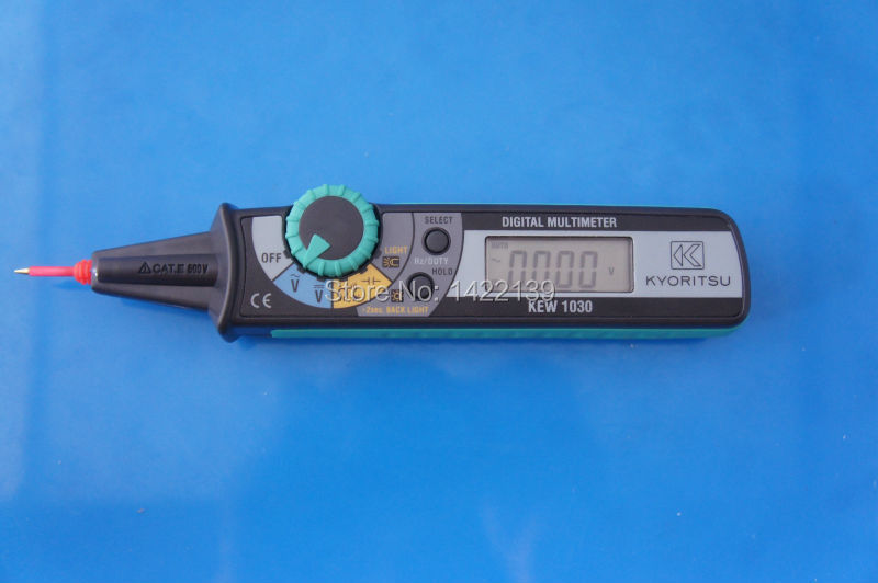 KYORITSU 1030 Compact Pen Digital Multimeter DMM my68 handheld auto range digital multimeter dmm w capacitance frequency