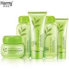 El Té verde 5 unids Conjuntos Coreano Cosméticos Para Blanquear Hidratante Hidratante Reafirmante Cuidado de La Piel Belleza Cara Cuidado de La Piel Al Instante Ageles