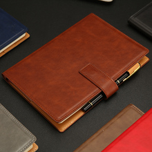RuiZe A5 leather notebook agenda 2020 office note book cover business daily memos planner B5 notebook paper stationery 1pcs extra thick spiral ring binder business office notebook fashion retro personality kraft paper daily memos notepad