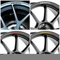 4pcs for Fiat ABARTH Rims Alloy Wheel Decals Stickers 500 500C 500L 500e 500X 595 695 Biposto Punto Grande Punto Stilo