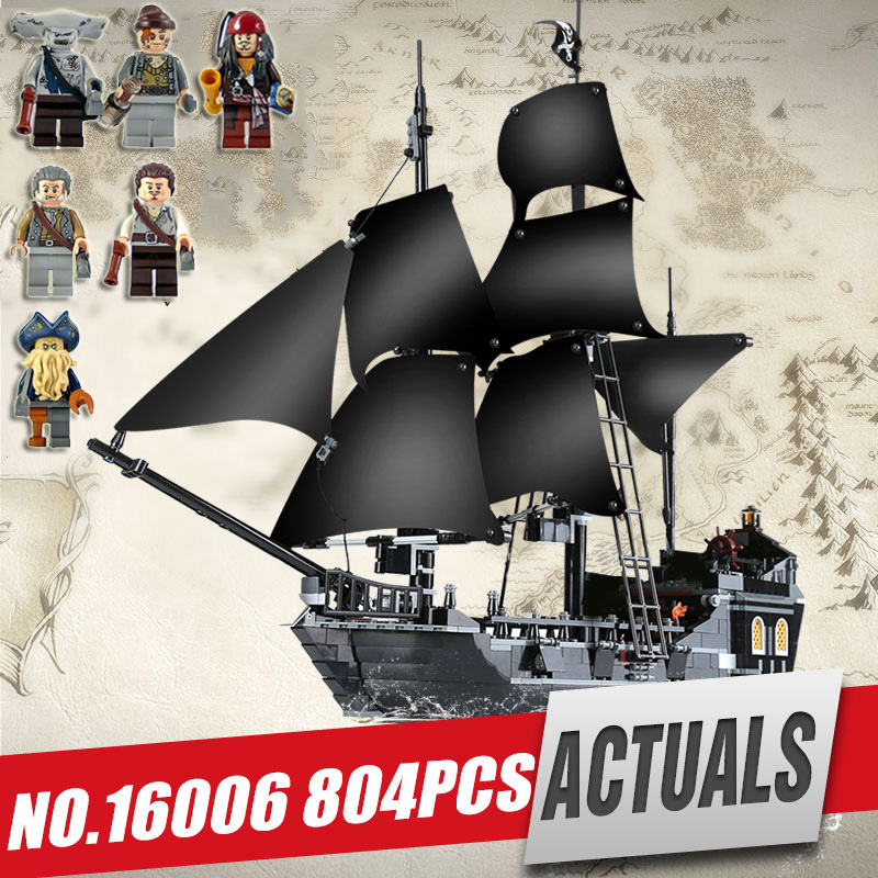 Lepin 16006 building bricks Pirates of the Caribbean the Black Pearl Ship model Compatible legoing 4184 Toys as children gifts waz compatible legoe pirates of the caribbean 4184 lepin 16006 804pcs the black pearl building blocks bricks toys for children