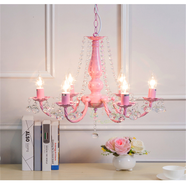 JW Modern 6 Heads Nordic Style Pink Led Pendant Light Creative ...