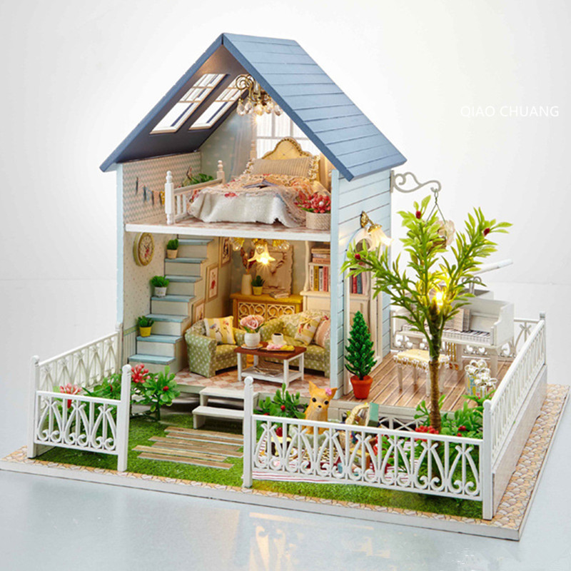 Garden Good Class Bungalows Diy Production Refinement Wood Villa Educational Toys House And Home Orn Creative Birthday Gift L469 bricolage model diy production nuts squirrel wood house refinement with led light house and home furnishings birthday gift l481