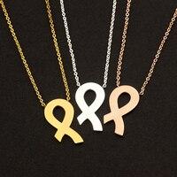 الجملة بيان فحام فام المقاوم للصدأ وارتفع الذهب لون الشريط سحر القلائد للنساء bff مجوهرات collares