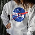 Women Autumn Winter NASA Printed Pullover Sweatshirt Loose Jumper Baseball Tee Tops Blouse Promotion