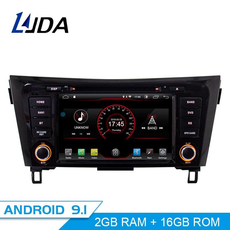 Autoradio LJDA Android 9.1 pour NISSAN Qashqai x-trail 2014-2018 lecteur multimédia de voiture GPS Navigation lecteur DVD Auto Radio WiFi
