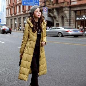 Image 2 - سترة شتوية للنساء سترة دافئة بقلنسوة للنساء معطف ملابس للنساء مجموعة جديدة رائعة لعام 2020 جودة عالية معطف نسائي طويل نحيف