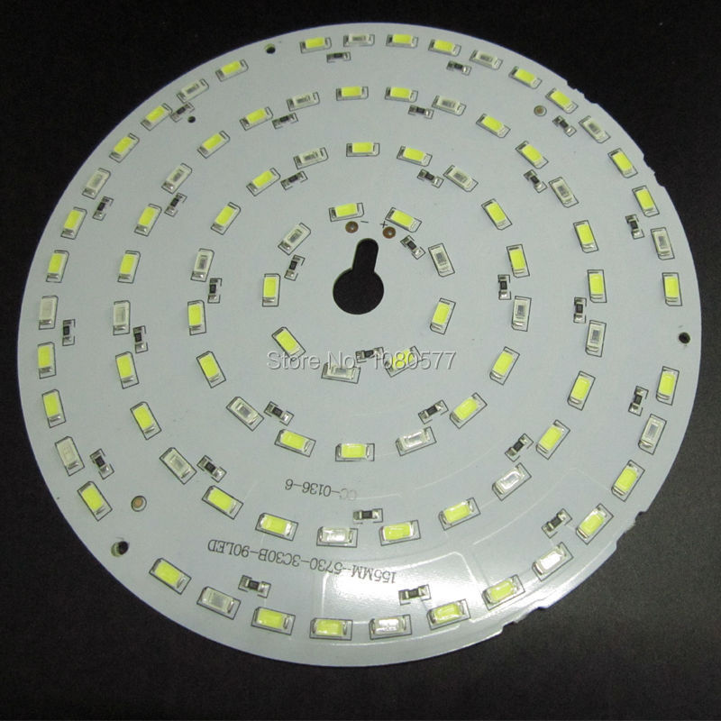 DC12V White + Red Color 45W LED PCB, Input DC 12V Neednt Driver SMD5730 High Lumen Aluminum Lamp plate