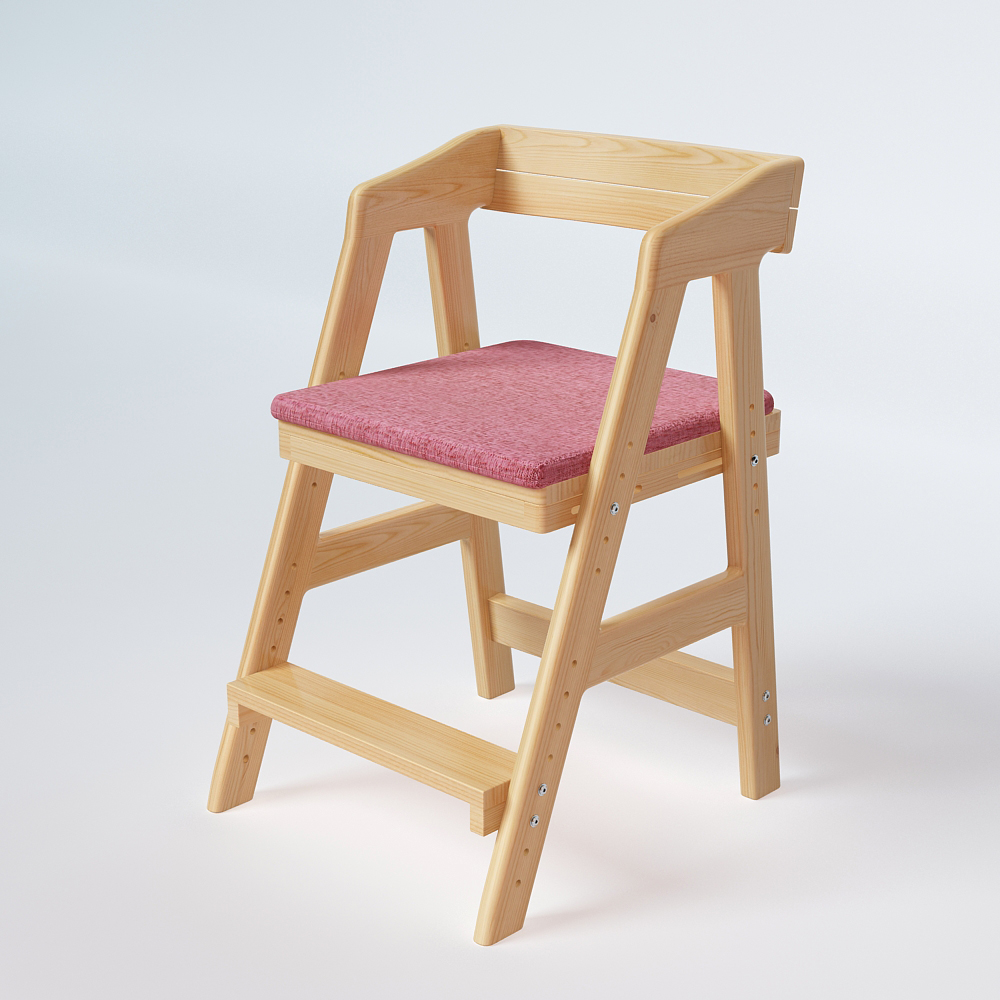 Solid Wood Childrens Chair Lift Study Chair Student Chair Posture Posture Writing Chair Dining Bench Baiheju Lifting Adjustment Children Furniture Furniture