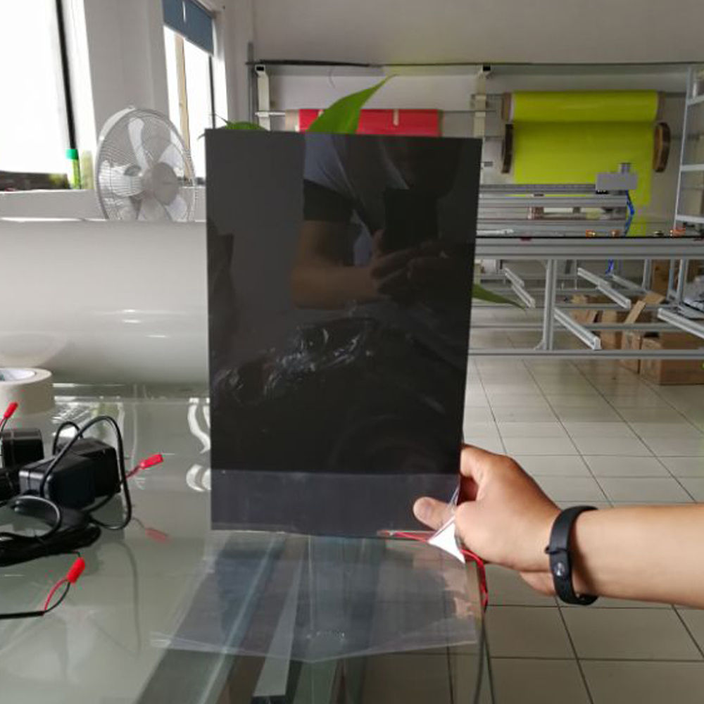 Black PDLC Switchable Privacy Film Smart Glass Window Film A4 Size Sample