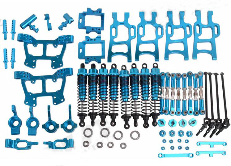 HSP 1/10 RC Monster Truck bigfoot car Metal Upgrade Spare Parts Set HSP 94108 94111 Aluminium Alloy Spare Parts Set 102011 10802 hsp 04001 metal aluminum chassis upgrade parts 03601 for redcat volcano epx exceed infinitive ep 1 10 rc buggy monster truck