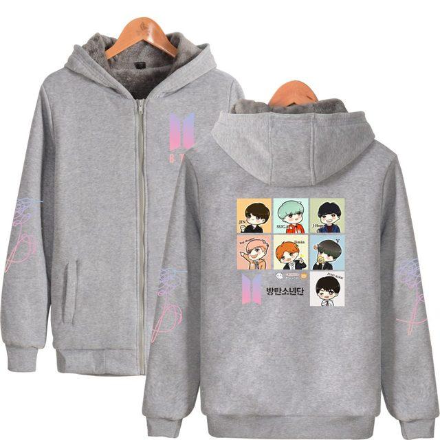 BTS Warm Hoodie with Zip Love Yourself Album