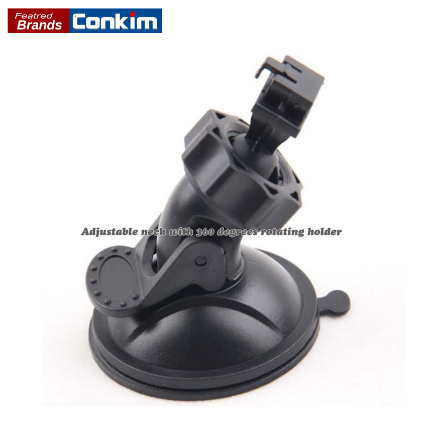 Conkim Unique Design Rotating Car DVR GS8000 GS8000L Windshield Suction Cup Mount Holder ABS Recorder Bracket For GPS Navigation conkim 360 degree rotating car dvr dab205 windshield suction cup mount holder abs driving recorder bracket free shipping
