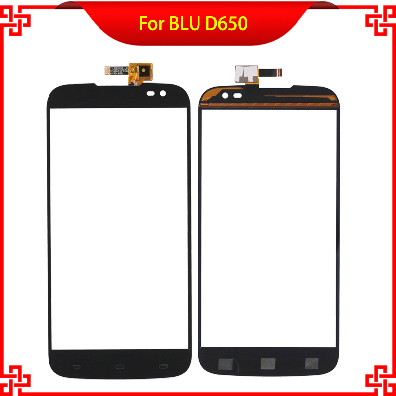 Original 6 Inch Touch Screen Digitizer  For BLU D650 650 Black Color High Quality Mobile Phone Touch Panel Free Tools