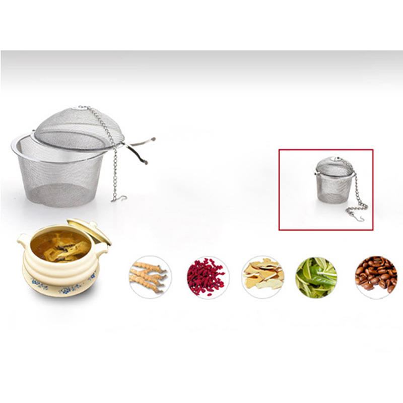Stainless Steel Tea Strainer Infuser Tea Locking Ball Tea Spice Mesh Herbal Ball Diam 4.5cm Cooking Tools