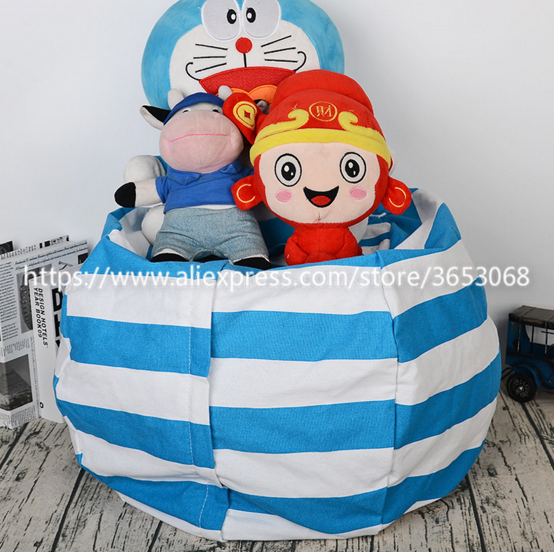 Best Stuffed Animal Storage Bean Bag Chair, Premium Cotton Canvas Toy Organizer for Kids Bedroom, Perfect Storage Solution