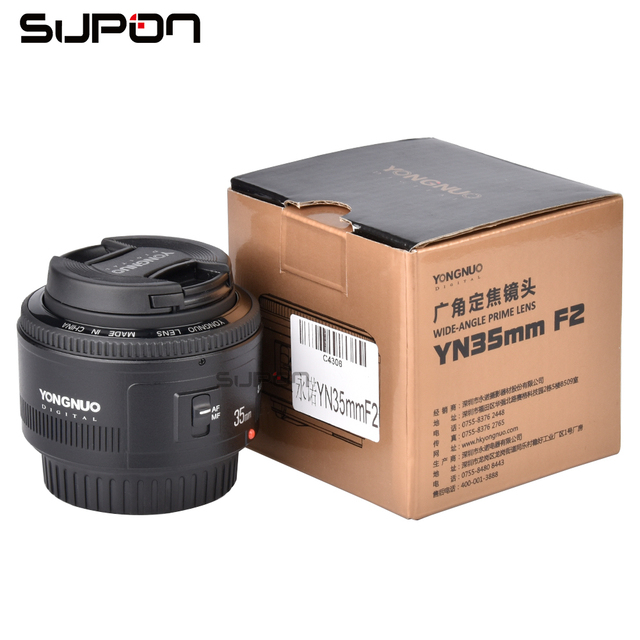 YONGNUO YN35mm 35mm F/2 Lens Wide-angle Large Aperture Fixed Auto Focus Lens yongnuo 35mm For Canon cameras