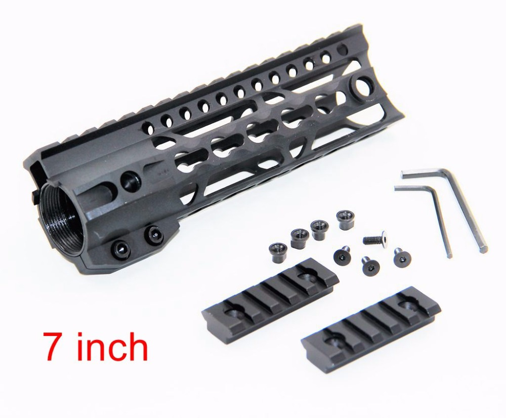 7 inch Hunting Shooting Gun Handguard Picatinny Quad Rail 7 Light Weight Aluminum One Rail Float Rails for AEG M4 M16 AR15 new lightweight cnc aluminum anodes m lok 9 inch handguard rail one picatinny rails system bk tan