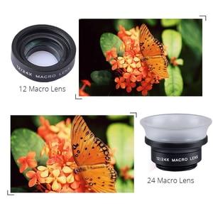 Image 4 - APEXEL lente Macro profesional 12X/24X para teléfono móvil, lente de cámara Super Macro para iPhone 6 6plus y todos los teléfonos inteligentes