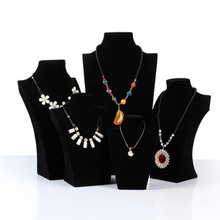 Luxury Black Velvet Model Bust Show Jewelry Display Necklaces Pendants Display Holder Stand Jewelry Mannequin Bust For Organizer недорого