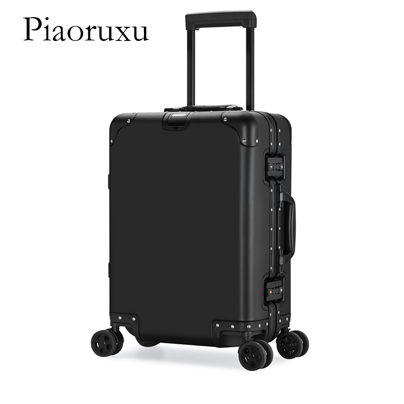 Piaoruxu 20 24 26 29 inch 100 aluminium spinner travel suitcase hand luggage trolley with wheel