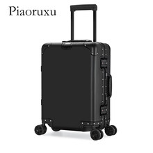 "Piaoruxu 20"" 24""26 "" 29"" inch 100% aluminium spinner travel suitcase hand luggage trolley with wheel(China)"
