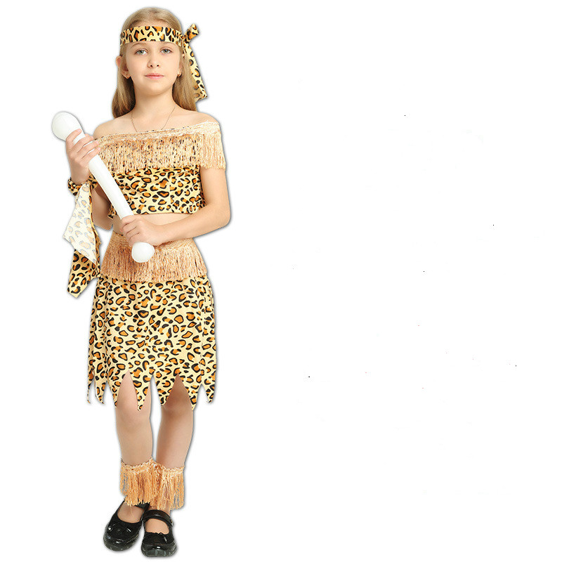 Original Costumes For Kids.Us 10 54 5 Off Aboriginal India Children Girls African Original Indian Savage Costume Kids Wild Cosplay Halloween Costumes Carnival Party Dress In