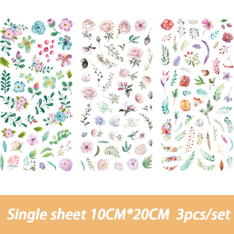 Cute Cartoon Hundred flowers Memo pad Stickers Posted It Kawaii Planner Scrapbooking Stationery Stic