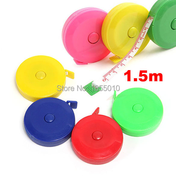 Newest Sewing Measurement Retractable Cloth Sewing Tailor Crafts Ruler Tape Measure 1.5M 60 Inch