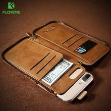 Floveme оригинальный ретро Бумажник кожаный чехол для iPhone 6 6 S 7 плюс сумка кожного покрова для iPhone 7 6 6 S плюс отделения для карточек сумка