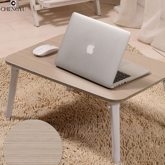 7 STYLES Printed Computer Desk Bed With Laptop Desk Simple Modern Foldable Dormitory Lazy Desk Learning Small Desk 60*40*29cm